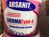 ARSANIT Therma-A Acrylic top coat texture render 1.0mm 25kg
