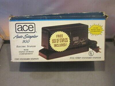 Vintage Ace Auto Stapler 900 Electric Stapler Original Box