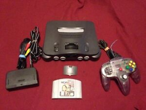 Nintendo 64 N64 with all cable 1 controller 1 game