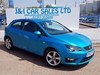 SEAT IBIZA 1.2 TSI FR 3d 104 BHP A GREAT EXAMPLE INSIDE AND O (blue) 2013
