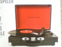 Graush Black & Red Briefcase Design Turntable (BRAND NEW)