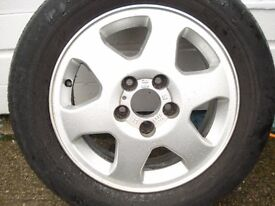 4 VAUXHALL ALLOY WHEELS TYRES 6JX15.ET43.5X110.5L.ASTRA. ZAFRA A MERIVA A. COMBO. AND OTHERS