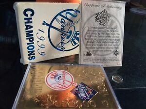 1999 new york yankee 22k gold card