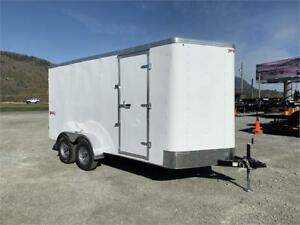 NEW 7x14 TRAX V-NOSE ENCLOSED CARGO TRAILER 7000LB