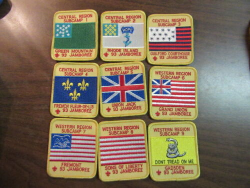1993 National Jamboree 19 Different Subcamp Patches      c1