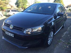 2012 Volkswagen Polo my2013 6R Trendline Hatchback 5dr DSG 7sp 1.4i Black Croydon Burwood Area Preview