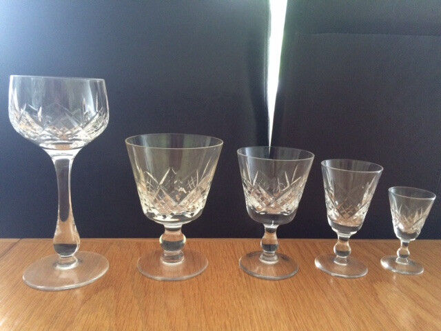 Stuart Crystal, Glengarry Pattern - Collection of 30 Glasses