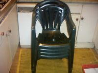 Green Plastic Table and Chair Set