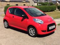 CITROEN C1 3 DOOR RED 2010 LOW WARRANTED MILEAGE ONLY 8900 LOW TAX £20 LOW INSURANCE PX WELCOME