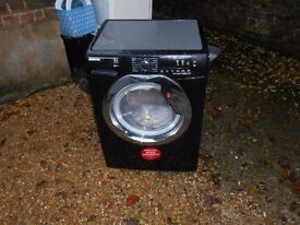 NEW GRADED HOOVER DXCC49B3 9KG, 1400 SPIN, A+++ RATED LARGE DRUM WASHING MACHINE IN BLACK RRP £399
