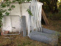 Chain Link Fence with Posts and Gate