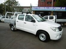 2011 Toyota Hilux GGN15R MY11 Upgrade SR White 5 Speed Manual Dual Cab Pick-up Yagoona Bankstown Area Preview