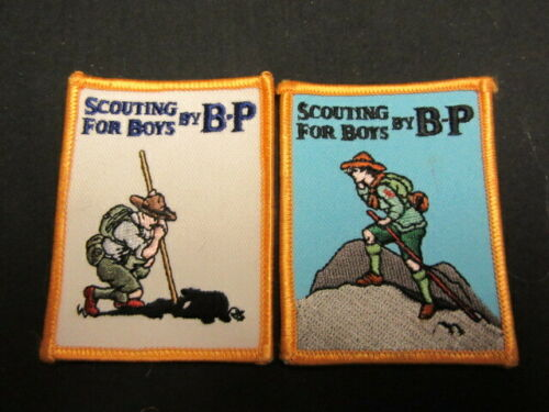 Scouting for Boys by B-P, 2 different Patches     c77