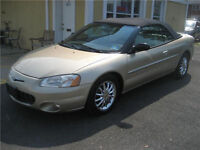 2001 Chrysler Sebring LIMITED--HEATED LEATHER SEATS--Convertible