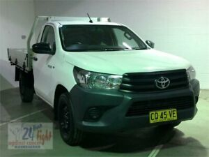 2016 Toyota Hilux TGN121R Workmate White Sports Automatic Cab Chassis Campbelltown Campbelltown Area Preview