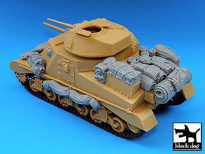Black Dog 1/35 M3 Grant Tank Sandbag Armor and Accessories Set (Academy) T35025