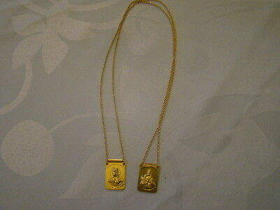 BRAND NEW 14K SOLID Yellow Gold Scapular Necklace Made in Italy