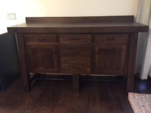 RUSTIC Solid Maple Sideboard/Buffet/Credenza - Mennonite