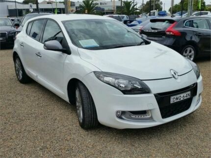 2013 Renault Megane III B95 MY13 GT-Line White 6 Speed Constant Variable Hatchback Sylvania Sutherland Area Preview