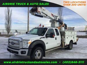 2013 Ford Super Duty F-550 DRW XLT Terex Bucket Truck!!