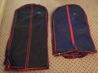 Suit carrier for inside suitcase