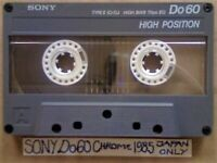 A2Z VERY RARE SONY Do 60 CHROME CASSETTE TAPES 1985 JAPAN ONLY ISSUE W/ CC LABELS & FP&P