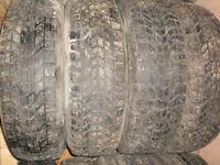 Set of 4 Firestone winter tires 205/75/14 - $180 installed