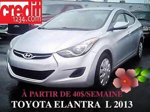 2013 Hyundai Elantra L, à partir de 40$/semaine 100% approuvé !