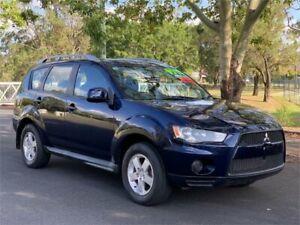 2010 Mitsubishi Outlander ZH MY10 LS Blue Constant Variable Wagon