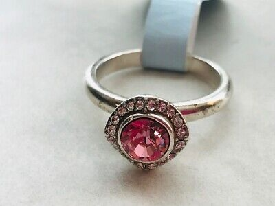 BRIGHTON Romantica Crystal Ring- Pink- Size 9  Retail $47 NEW