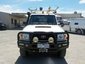 2011 Toyota Landcruiser White Manual Cab Chassis