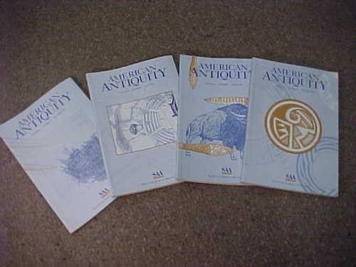 Complete set of 4-1998 American Antiquity-Journal Society American Archaeology