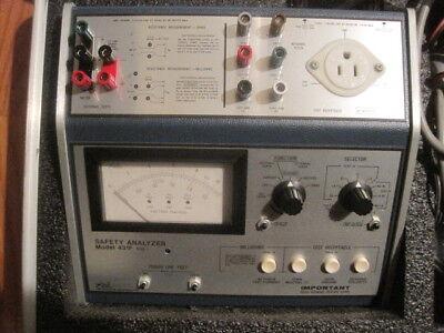 Neurodyne Dempsey 431f Mod 1 Dynatech Nevada Patient Safety Analyzer Customcase