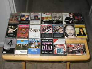 CASSETTE TAPES OF VARIOUS ROCK GROUPS & SINGERS ($5 EACH)