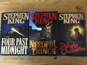 3 - STEPHEN KING hardcover books for sale - $15 for all 3.