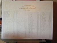 **Wedding Seating Chart w/Design Printing, $120 per sign**