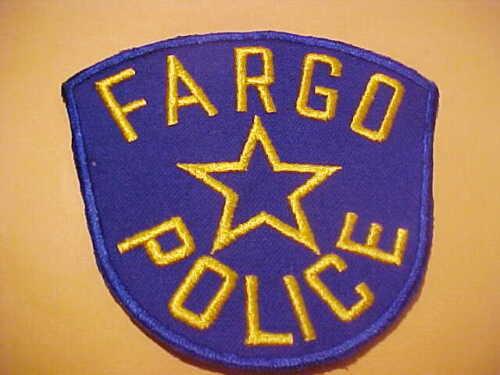 FARGO NORTH  DAKOTA POLICE PATCH SHOULDER SIZE NEW TYPE 1 BIG 5 X 4 1/2 INCH