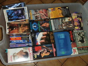 125 Video tapes VHS Movies / concerts
