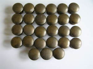 Lot of 27 Cabinet Pull Knobs - Antique Brass