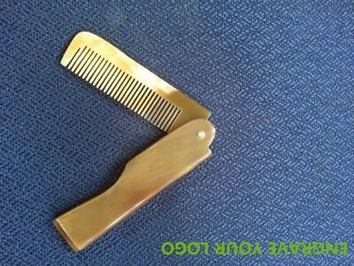 1pcs Ox horn folding comb natural hair care handmade Wholesale engrave logo