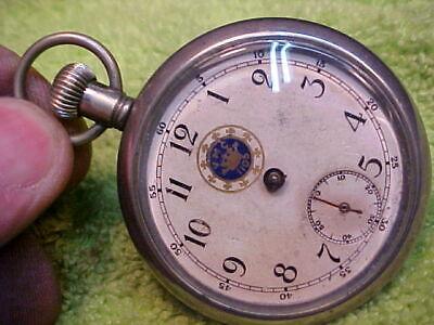 "RARE 1909 Ingersoll dollar watch pocket watch Fraternal ""Royal Arcanum"""