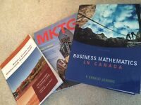 marketing/business/math text books