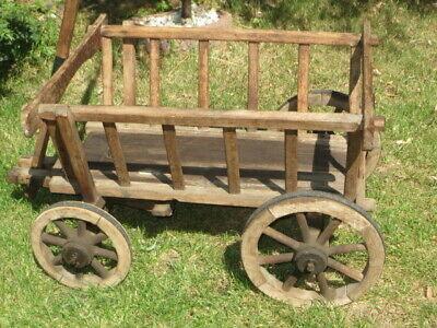 alter Handwagen, Leiterwagen, Bollerwagen Gartendekoration HW5