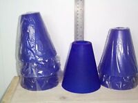 6 x New Blue Glass Lamp Shades (no fixings)