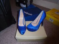 womens royal blue party shoes