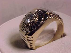 ROLEX STYLE /Gold  DIAMOND RING .1.08ct-18.50 gms Filled in back APPRAISEL Ebank TRANSFER