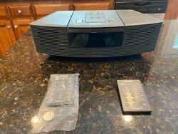 Bose Wave Radio CD Player Alarm Clock Model AWRC1G with 2 remotes