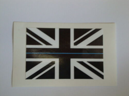 POLICE THIN BLUE LINE FLAG STICKERS X 2   CAR BUMPER /WINDOW DECAL SCOTS