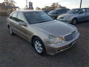 2003 Mercedes-Benz C200 Kompressor W203 MY2003 Classic Gold Sports Automatic Sedan Lansdowne Bankstown Area Preview
