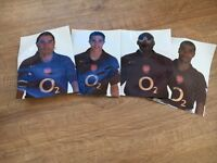 4x Genuine Arsenal Football Player Photo's